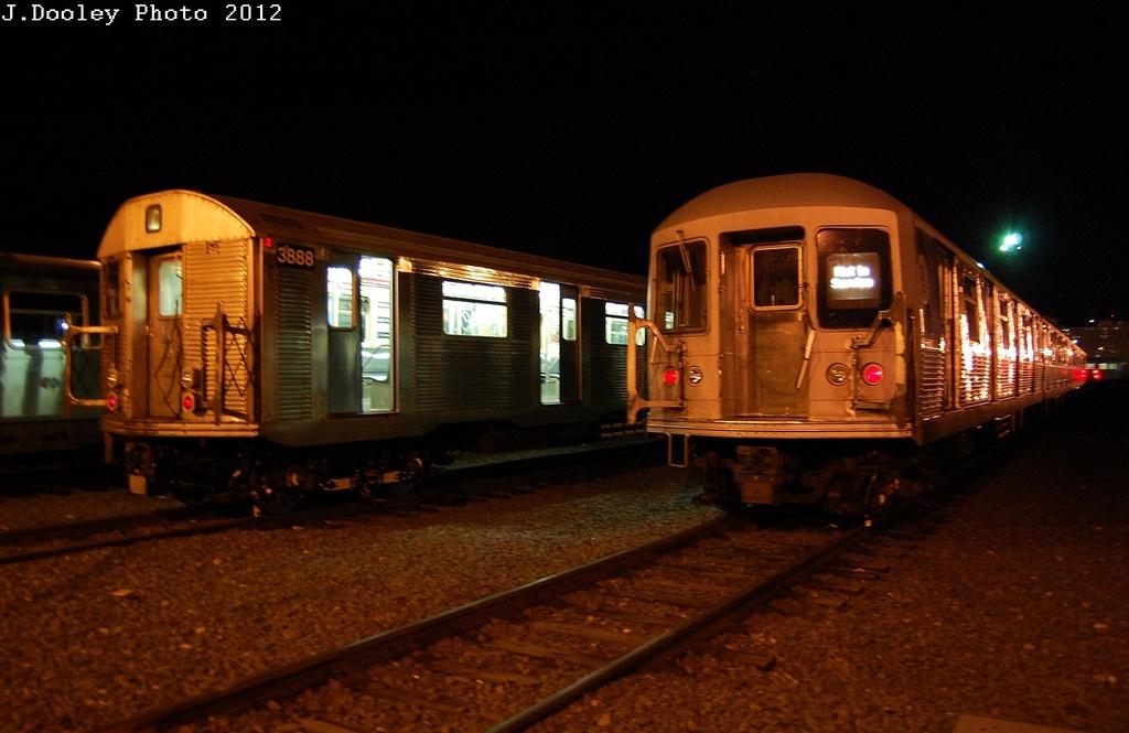 (272k, 1024x665)<br><b>Country:</b> United States<br><b>City:</b> New York<br><b>System:</b> New York City Transit<br><b>Location:</b> Coney Island Yard<br><b>Car:</b> R-32 (Budd, 1964)  3888 <br><b>Photo by:</b> John Dooley<br><b>Date:</b> 2/21/2012<br><b>Viewed (this week/total):</b> 5 / 905