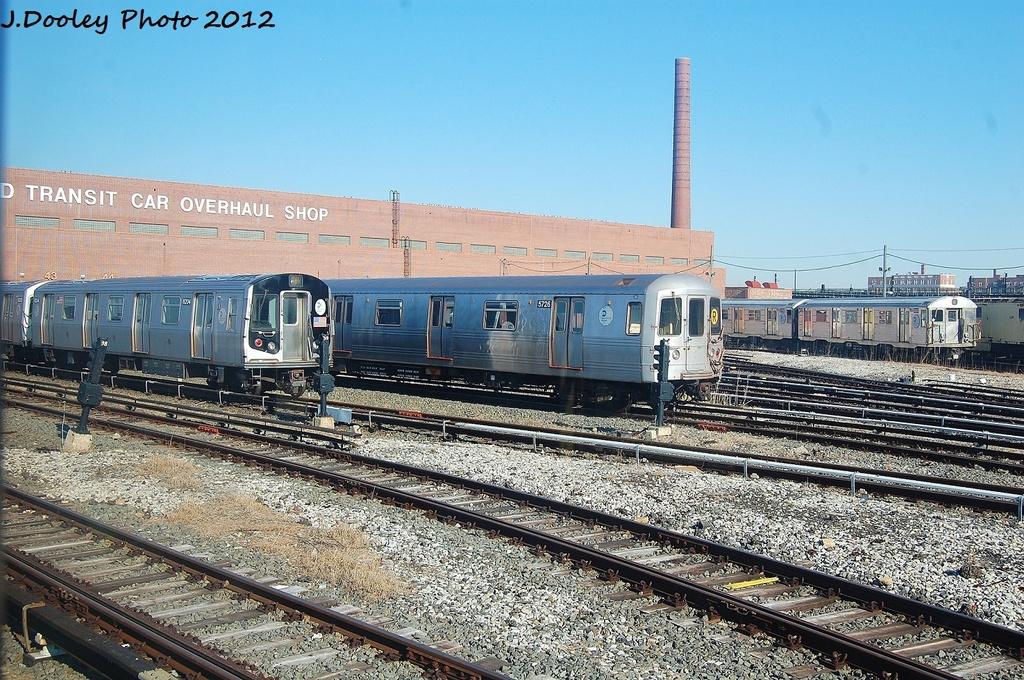 (414k, 1024x680)<br><b>Country:</b> United States<br><b>City:</b> New York<br><b>System:</b> New York City Transit<br><b>Location:</b> Coney Island Yard<br><b>Car:</b> R-46 (Pullman-Standard, 1974-75) 5726 <br><b>Photo by:</b> John Dooley<br><b>Date:</b> 1/7/2012<br><b>Viewed (this week/total):</b> 0 / 591