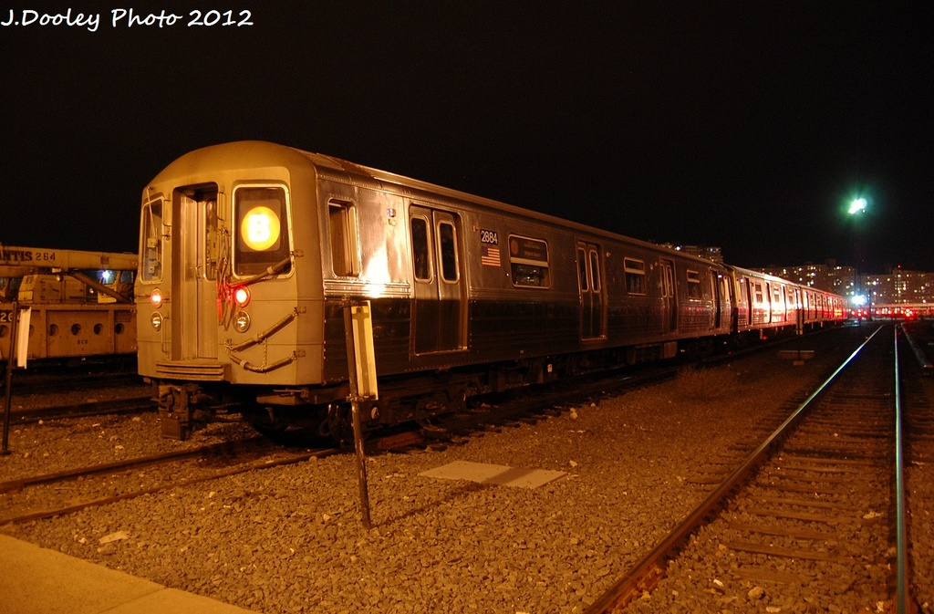 (324k, 1024x673)<br><b>Country:</b> United States<br><b>City:</b> New York<br><b>System:</b> New York City Transit<br><b>Location:</b> Coney Island Yard<br><b>Car:</b> R-68 (Westinghouse-Amrail, 1986-1988)  2884 <br><b>Photo by:</b> John Dooley<br><b>Date:</b> 1/19/2012<br><b>Viewed (this week/total):</b> 3 / 676