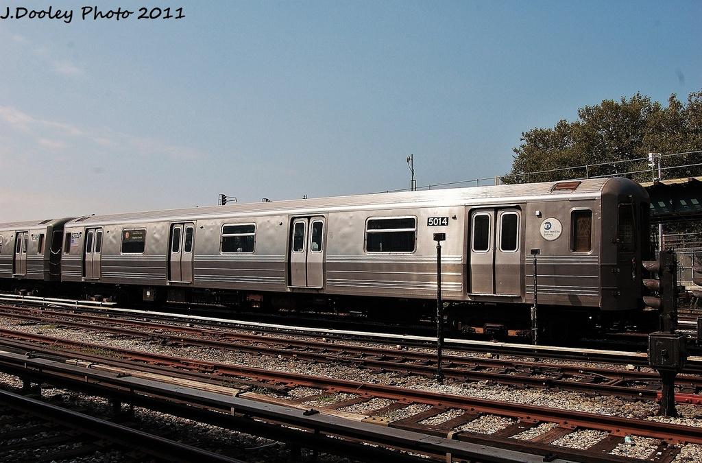 (356k, 1024x675)<br><b>Country:</b> United States<br><b>City:</b> New York<br><b>System:</b> New York City Transit<br><b>Location:</b> Coney Island Yard<br><b>Car:</b> R-68A (Kawasaki, 1988-1989)  5014 <br><b>Photo by:</b> John Dooley<br><b>Date:</b> 8/26/2011<br><b>Viewed (this week/total):</b> 0 / 588