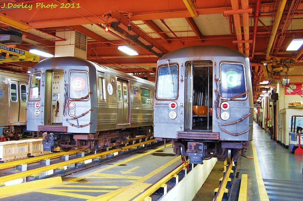 (431k, 1024x680)<br><b>Country:</b> United States<br><b>City:</b> New York<br><b>System:</b> New York City Transit<br><b>Location:</b> Coney Island Shop/Maint. & Inspection Shop<br><b>Car:</b> R-68A (Kawasaki, 1988-1989)  5134 <br><b>Photo by:</b> John Dooley<br><b>Date:</b> 8/26/2011<br><b>Viewed (this week/total):</b> 0 / 974