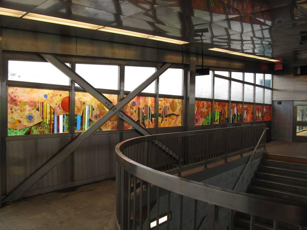 (101k, 1024x768)<br><b>Country:</b> United States<br><b>City:</b> New York<br><b>System:</b> New York City Transit<br><b>Line:</b> IND Rockaway<br><b>Location:</b> Mott Avenue/Far Rockaway <br><b>Photo by:</b> Robbie Rosenfeld<br><b>Date:</b> 5/3/2012<br><b>Artwork:</b> <i>Respite</i>, Jason Rohlf (2011).<br><b>Viewed (this week/total):</b> 2 / 1295