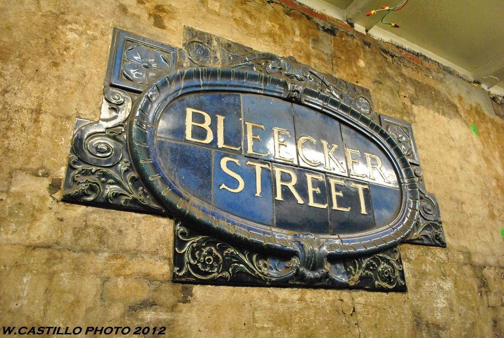 (386k, 1024x687)<br><b>Country:</b> United States<br><b>City:</b> New York<br><b>System:</b> New York City Transit<br><b>Line:</b> IRT East Side Line<br><b>Location:</b> Bleecker Street <br><b>Photo by:</b> Wilfredo Castillo<br><b>Date:</b> 5/15/2012<br><b>Viewed (this week/total):</b> 4 / 885