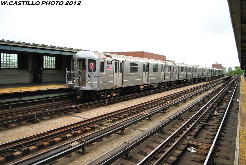 (292k, 1024x687)<br><b>Country:</b> United States<br><b>City:</b> New York<br><b>System:</b> New York City Transit<br><b>Line:</b> IRT Flushing Line<br><b>Location:</b> 46th Street/Bliss Street <br><b>Route:</b> 7<br><b>Car:</b> R-62A (Bombardier, 1984-1987)  1651 <br><b>Photo by:</b> Wilfredo Castillo<br><b>Date:</b> 5/14/2012<br><b>Viewed (this week/total):</b> 1 / 911