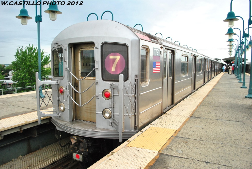 (317k, 1024x687)<br><b>Country:</b> United States<br><b>City:</b> New York<br><b>System:</b> New York City Transit<br><b>Line:</b> IRT Flushing Line<br><b>Location:</b> 61st Street/Woodside <br><b>Route:</b> 7<br><b>Car:</b> R-62A (Bombardier, 1984-1987)  1791 <br><b>Photo by:</b> Wilfredo Castillo<br><b>Date:</b> 5/14/2012<br><b>Viewed (this week/total):</b> 0 / 891