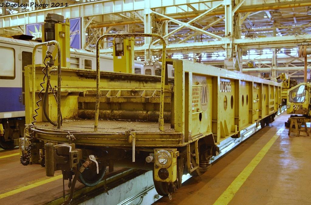 (371k, 1024x674)<br><b>Country:</b> United States<br><b>City:</b> New York<br><b>System:</b> New York City Transit<br><b>Location:</b> Coney Island Shop/Overhaul & Repair Shop<br><b>Car:</b> R-113 Crane Car  266 <br><b>Photo by:</b> John Dooley<br><b>Date:</b> 10/9/2011<br><b>Viewed (this week/total):</b> 2 / 520