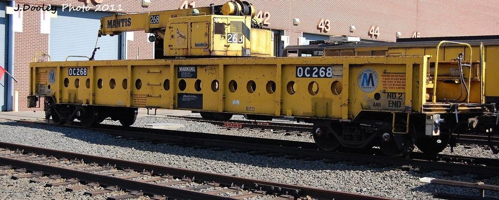 (305k, 1024x410)<br><b>Country:</b> United States<br><b>City:</b> New York<br><b>System:</b> New York City Transit<br><b>Location:</b> Coney Island Yard<br><b>Car:</b> R-113 Crane Car  268 <br><b>Photo by:</b> John Dooley<br><b>Date:</b> 10/9/2011<br><b>Viewed (this week/total):</b> 1 / 463