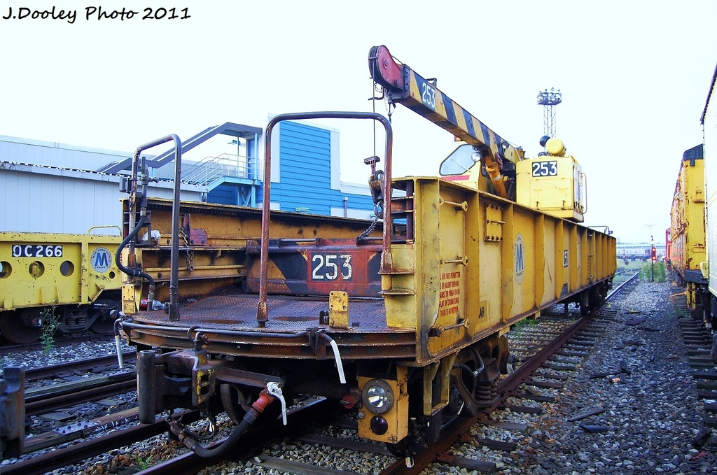 (353k, 1024x679)<br><b>Country:</b> United States<br><b>City:</b> New York<br><b>System:</b> New York City Transit<br><b>Location:</b> Coney Island Yard<br><b>Car:</b> Crane Car 253 <br><b>Photo by:</b> John Dooley<br><b>Date:</b> 8/26/2011<br><b>Viewed (this week/total):</b> 1 / 553