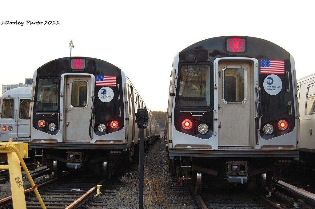 (292k, 1024x680)<br><b>Country:</b> United States<br><b>City:</b> New York<br><b>System:</b> New York City Transit<br><b>Location:</b> Jamaica Yard/Shops<br><b>Car:</b> R-160A-1 (Alstom, 2005-2008, 4 car sets)  8516 <br><b>Photo by:</b> John Dooley<br><b>Date:</b> 11/19/2011<br><b>Viewed (this week/total):</b> 1 / 951