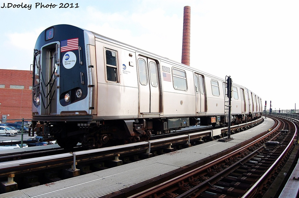 (340k, 1024x681)<br><b>Country:</b> United States<br><b>City:</b> New York<br><b>System:</b> New York City Transit<br><b>Location:</b> Coney Island Yard<br><b>Car:</b> R-160A (Option 1) (Alstom, 2008-2009, 5 car sets)  9558 <br><b>Photo by:</b> John Dooley<br><b>Date:</b> 8/26/2011<br><b>Viewed (this week/total):</b> 3 / 685