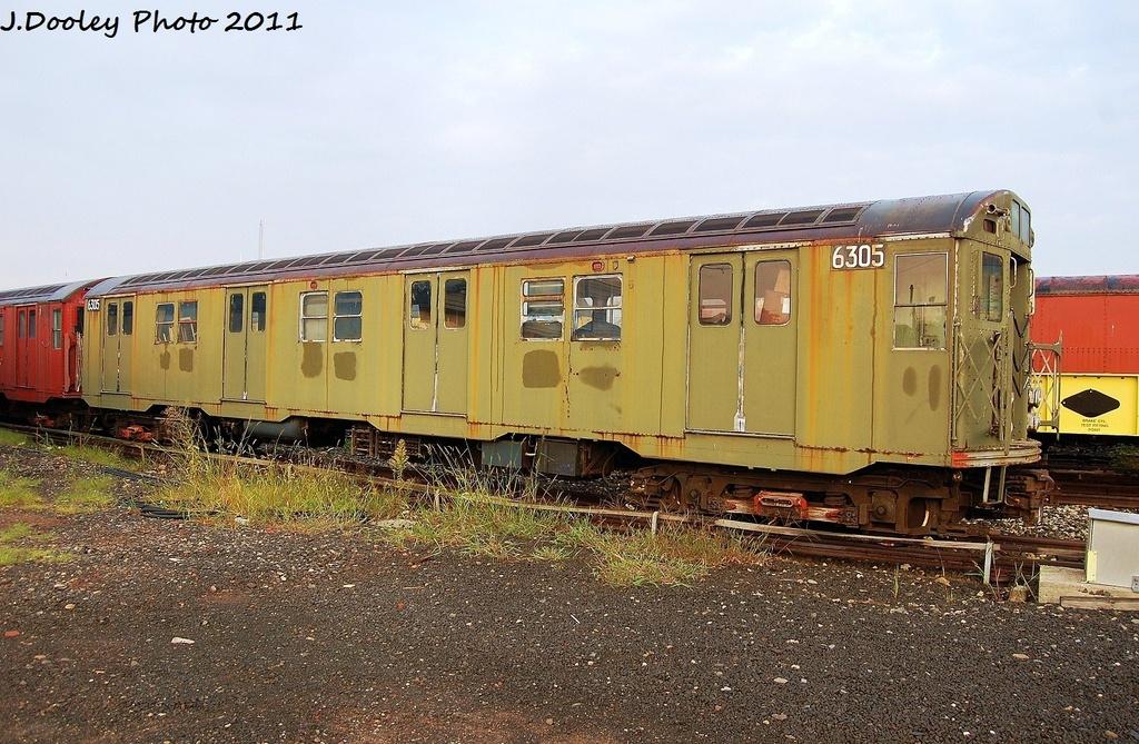 (374k, 1024x669)<br><b>Country:</b> United States<br><b>City:</b> New York<br><b>System:</b> New York City Transit<br><b>Location:</b> Coney Island Yard<br><b>Car:</b> R-16 (American Car & Foundry, 1955) 6305 <br><b>Photo by:</b> John Dooley<br><b>Date:</b> 8/26/2011<br><b>Viewed (this week/total):</b> 1 / 1717