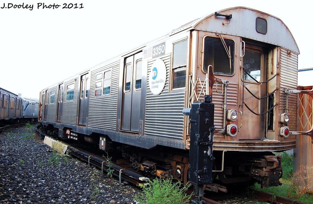 (363k, 1024x669)<br><b>Country:</b> United States<br><b>City:</b> New York<br><b>System:</b> New York City Transit<br><b>Location:</b> Coney Island Yard<br><b>Car:</b> R-32 (Budd, 1964)  3350 <br><b>Photo by:</b> John Dooley<br><b>Date:</b> 8/26/2011<br><b>Viewed (this week/total):</b> 2 / 774
