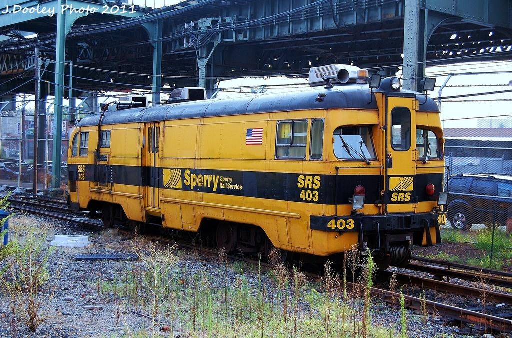 (482k, 1024x677)<br><b>Country:</b> United States<br><b>City:</b> New York<br><b>System:</b> New York City Transit<br><b>Location:</b> Coney Island Yard<br><b>Car:</b> Sperry Rail Service  403 <br><b>Photo by:</b> John Dooley<br><b>Date:</b> 8/26/2011<br><b>Viewed (this week/total):</b> 0 / 970