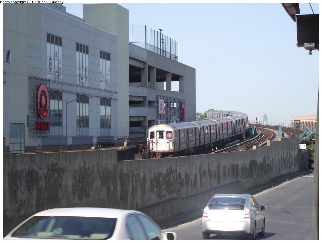 (265k, 1044x788)<br><b>Country:</b> United States<br><b>City:</b> New York<br><b>System:</b> New York City Transit<br><b>Line:</b> IRT Flushing Line<br><b>Location:</b> Main St. Tunnel Portal <br><b>Route:</b> 7<br><b>Car:</b> R-62A (Bombardier, 1984-1987)   <br><b>Photo by:</b> Brian J. Cudahy<br><b>Date:</b> 5/18/2011<br><b>Viewed (this week/total):</b> 5 / 1010
