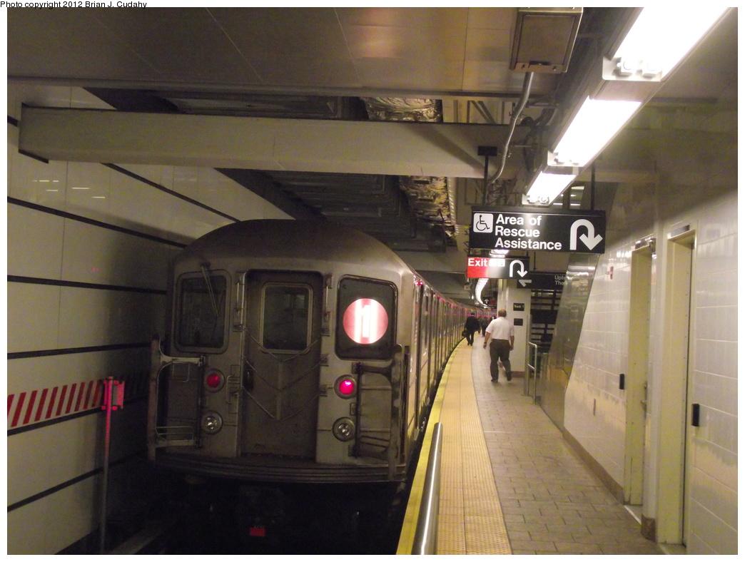 (318k, 1044x788)<br><b>Country:</b> United States<br><b>City:</b> New York<br><b>System:</b> New York City Transit<br><b>Line:</b> IRT West Side Line<br><b>Location:</b> South Ferry (New Station) <br><b>Route:</b> 1<br><b>Car:</b> R-62A (Bombardier, 1984-1987)  2240 <br><b>Photo by:</b> Brian J. Cudahy<br><b>Date:</b> 5/18/2011<br><b>Viewed (this week/total):</b> 1 / 939