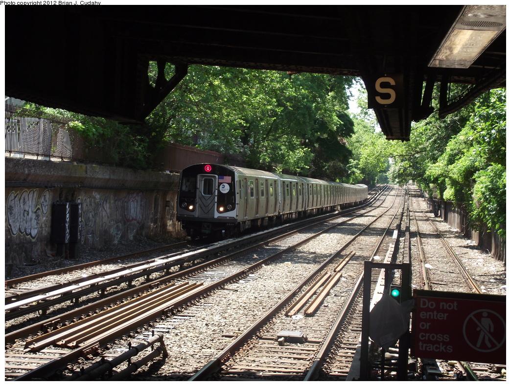 (487k, 1044x788)<br><b>Country:</b> United States<br><b>City:</b> New York<br><b>System:</b> New York City Transit<br><b>Line:</b> BMT Brighton Line<br><b>Location:</b> Newkirk Plaza (fmrly Newkirk Ave.) <br><b>Route:</b> Q<br><b>Car:</b> R-160A/R-160B Series (Number Unknown)  <br><b>Photo by:</b> Brian J. Cudahy<br><b>Date:</b> 5/18/2011<br><b>Viewed (this week/total):</b> 1 / 809