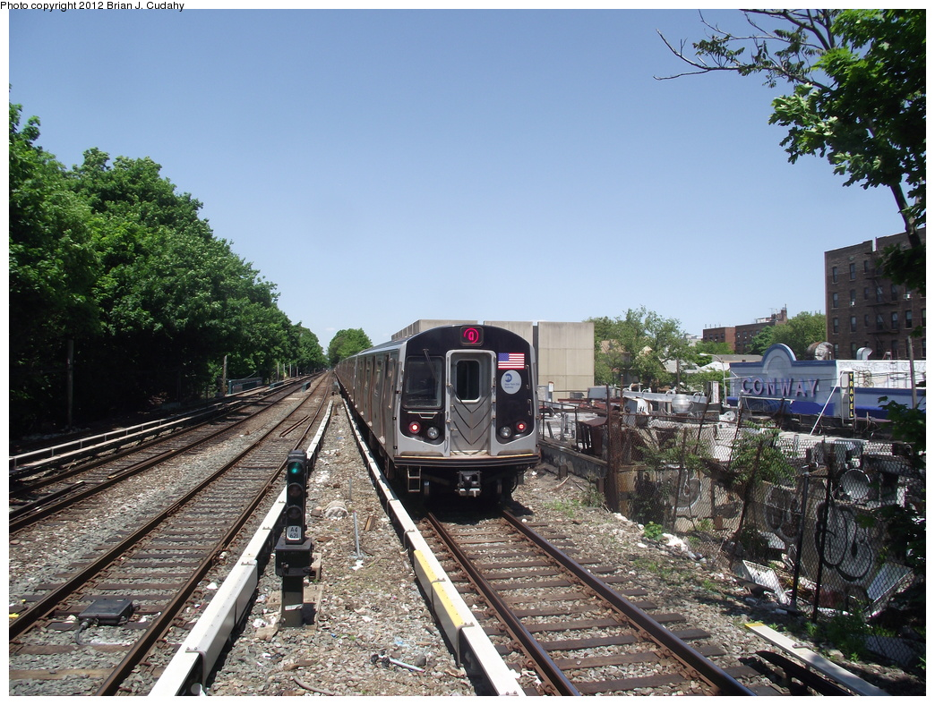 (440k, 1044x788)<br><b>Country:</b> United States<br><b>City:</b> New York<br><b>System:</b> New York City Transit<br><b>Line:</b> BMT Brighton Line<br><b>Location:</b> Kings Highway <br><b>Route:</b> Q<br><b>Car:</b> R-160A/R-160B Series (Number Unknown)  <br><b>Photo by:</b> Brian J. Cudahy<br><b>Date:</b> 5/18/2011<br><b>Viewed (this week/total):</b> 0 / 834