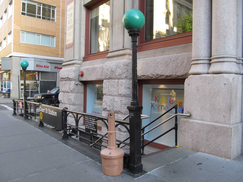 (131k, 1024x768)<br><b>Country:</b> United States<br><b>City:</b> New York<br><b>System:</b> New York City Transit<br><b>Line:</b> BMT Broadway Line<br><b>Location:</b> Court Street <br><b>Photo by:</b> Robbie Rosenfeld<br><b>Date:</b> 5/20/2012<br><b>Notes:</b> Station entrance.<br><b>Viewed (this week/total):</b> 0 / 1233