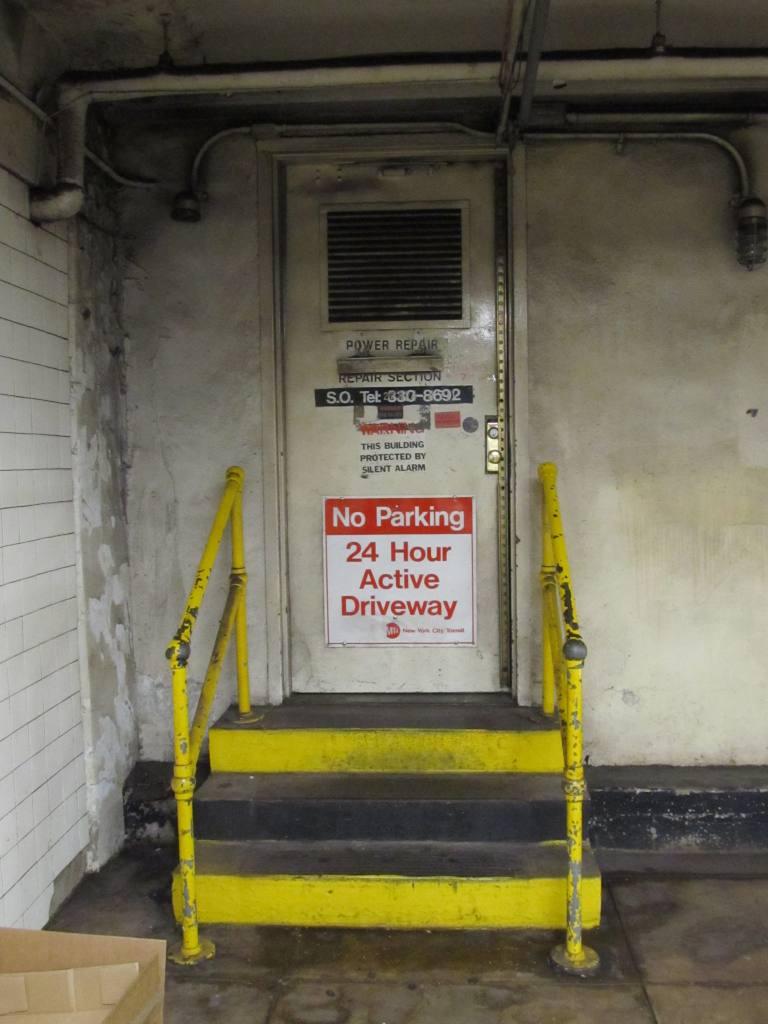 (88k, 768x1024)<br><b>Country:</b> United States<br><b>City:</b> New York<br><b>System:</b> New York City Transit<br><b>Line:</b> IND Fulton Street Line<br><b>Location:</b> Hoyt-Schermerhorn Street <br><b>Photo by:</b> Robbie Rosenfeld<br><b>Date:</b> 5/16/2012<br><b>Notes:</b> Note driveway sign!<br><b>Viewed (this week/total):</b> 2 / 1221