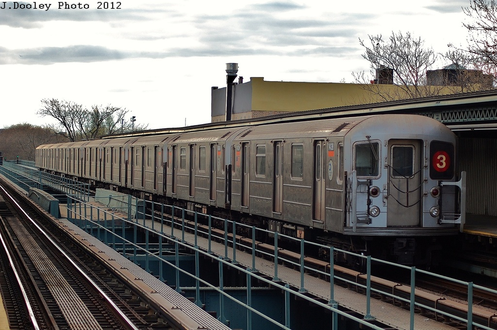 (362k, 1024x680)<br><b>Country:</b> United States<br><b>City:</b> New York<br><b>System:</b> New York City Transit<br><b>Line:</b> IRT Brooklyn Line<br><b>Location:</b> Saratoga Avenue <br><b>Route:</b> 3<br><b>Car:</b> R-62 (Kawasaki, 1983-1985)  1438 <br><b>Photo by:</b> John Dooley<br><b>Date:</b> 3/29/2012<br><b>Viewed (this week/total):</b> 2 / 823