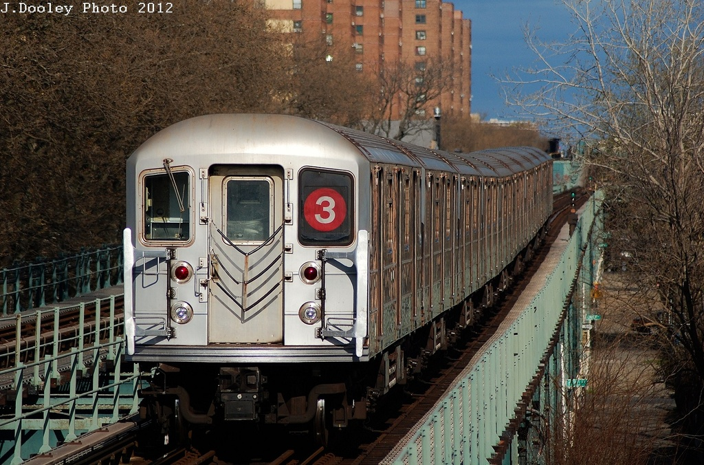 (408k, 1024x676)<br><b>Country:</b> United States<br><b>City:</b> New York<br><b>System:</b> New York City Transit<br><b>Line:</b> IRT Brooklyn Line<br><b>Location:</b> Saratoga Avenue <br><b>Route:</b> 3<br><b>Car:</b> R-62 (Kawasaki, 1983-1985)  1557 <br><b>Photo by:</b> John Dooley<br><b>Date:</b> 3/29/2012<br><b>Viewed (this week/total):</b> 0 / 822