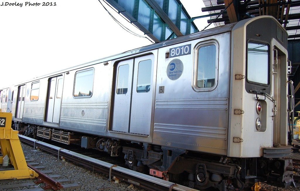 (322k, 1024x651)<br><b>Country:</b> United States<br><b>City:</b> New York<br><b>System:</b> New York City Transit<br><b>Location:</b> 239th Street Yard<br><b>Car:</b> R-110A (Kawasaki, 1992) 8010 <br><b>Photo by:</b> John Dooley<br><b>Date:</b> 12/8/2011<br><b>Viewed (this week/total):</b> 9 / 1316