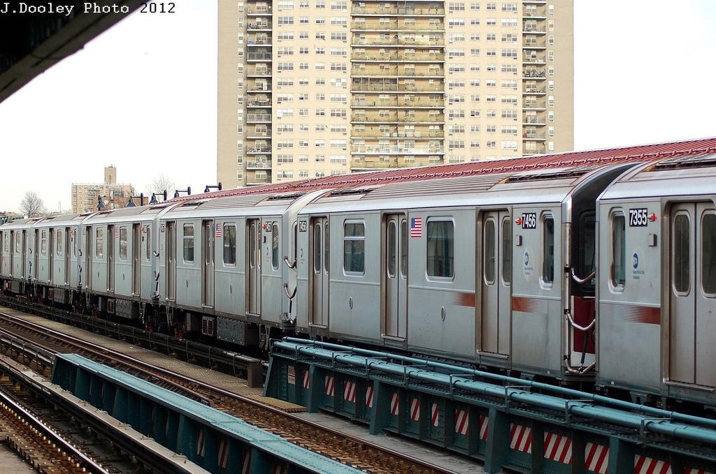 (353k, 1024x679)<br><b>Country:</b> United States<br><b>City:</b> New York<br><b>System:</b> New York City Transit<br><b>Line:</b> IRT Pelham Line<br><b>Location:</b> Morrison/Soundview Aves. <br><b>Route:</b> 6<br><b>Car:</b> R-142A (Primary Order, Kawasaki, 1999-2002)  7456 <br><b>Photo by:</b> John Dooley<br><b>Date:</b> 2/22/2012<br><b>Viewed (this week/total):</b> 1 / 829