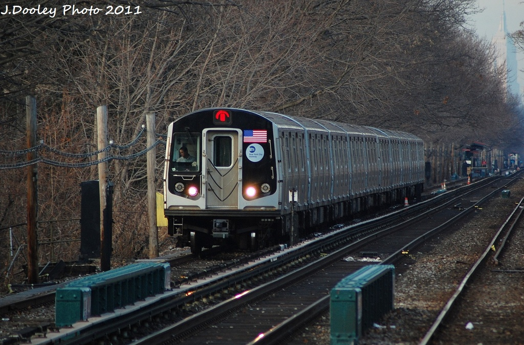 (381k, 1024x675)<br><b>Country:</b> United States<br><b>City:</b> New York<br><b>System:</b> New York City Transit<br><b>Line:</b> BMT Brighton Line<br><b>Location:</b> Kings Highway <br><b>Route:</b> Q<br><b>Car:</b> R-160A-2 (Alstom, 2005-2008, 5 car sets)  8667 <br><b>Photo by:</b> John Dooley<br><b>Date:</b> 12/31/2011<br><b>Viewed (this week/total):</b> 2 / 699