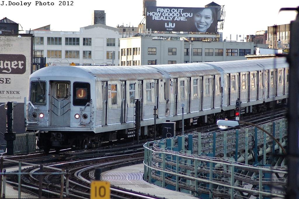 (387k, 1024x680)<br><b>Country:</b> United States<br><b>City:</b> New York<br><b>System:</b> New York City Transit<br><b>Line:</b> BMT Nassau Street/Jamaica Line<br><b>Location:</b> Marcy Avenue <br><b>Route:</b> J<br><b>Car:</b> R-42 (St. Louis, 1969-1970)  4800 <br><b>Photo by:</b> John Dooley<br><b>Date:</b> 3/3/2012<br><b>Viewed (this week/total):</b> 1 / 985