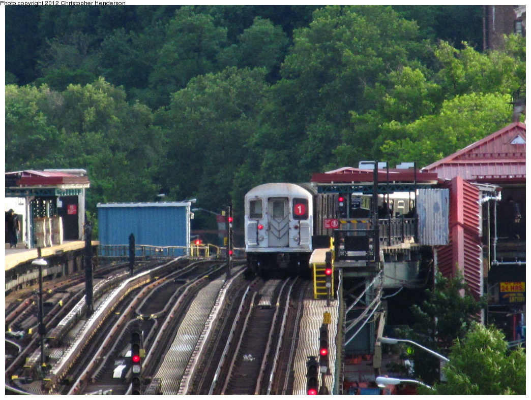 (390k, 1044x788)<br><b>Country:</b> United States<br><b>City:</b> New York<br><b>System:</b> New York City Transit<br><b>Line:</b> IRT West Side Line<br><b>Location:</b> 207th Street <br><b>Route:</b> 1<br><b>Car:</b> R-62 (Kawasaki, 1983-1985)  1500 <br><b>Photo by:</b> Christopher Henderson<br><b>Date:</b> 6/4/2012<br><b>Viewed (this week/total):</b> 0 / 1051
