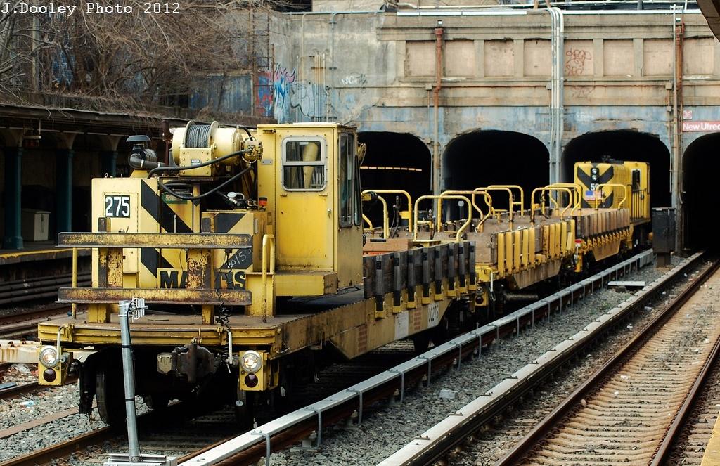 (402k, 1024x663)<br><b>Country:</b> United States<br><b>City:</b> New York<br><b>System:</b> New York City Transit<br><b>Line:</b> BMT Sea Beach Line<br><b>Location:</b> New Utrecht Avenue <br><b>Route:</b> Work Service<br><b>Car:</b> R-102 Crane Car  275 <br><b>Photo by:</b> John Dooley<br><b>Date:</b> 3/21/2012<br><b>Viewed (this week/total):</b> 0 / 920