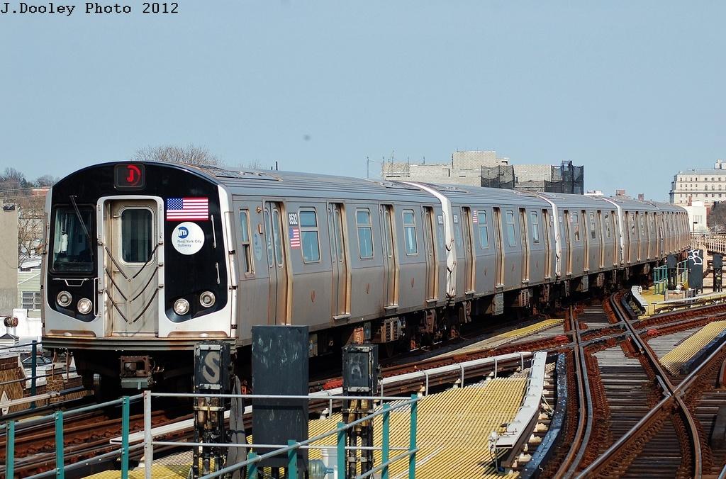 (344k, 1024x676)<br><b>Country:</b> United States<br><b>City:</b> New York<br><b>System:</b> New York City Transit<br><b>Line:</b> BMT Nassau Street/Jamaica Line<br><b>Location:</b> 121st Street <br><b>Route:</b> J<br><b>Car:</b> R-160A-1 (Alstom, 2005-2008, 4 car sets)  8532 <br><b>Photo by:</b> John Dooley<br><b>Date:</b> 3/23/2012<br><b>Viewed (this week/total):</b> 0 / 961