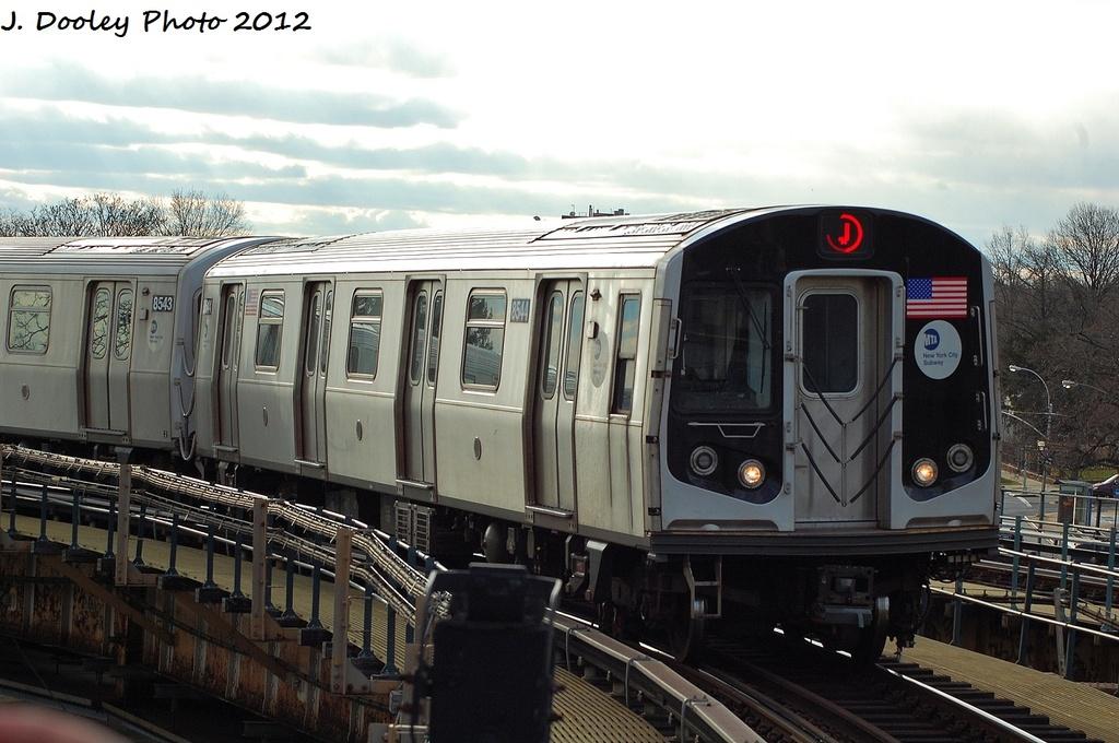 (302k, 1024x680)<br><b>Country:</b> United States<br><b>City:</b> New York<br><b>System:</b> New York City Transit<br><b>Line:</b> BMT Nassau Street/Jamaica Line<br><b>Location:</b> Cypress Hills <br><b>Route:</b> J<br><b>Car:</b> R-160A-1 (Alstom, 2005-2008, 4 car sets)  8544 <br><b>Photo by:</b> John Dooley<br><b>Date:</b> 1/2/2012<br><b>Viewed (this week/total):</b> 2 / 755