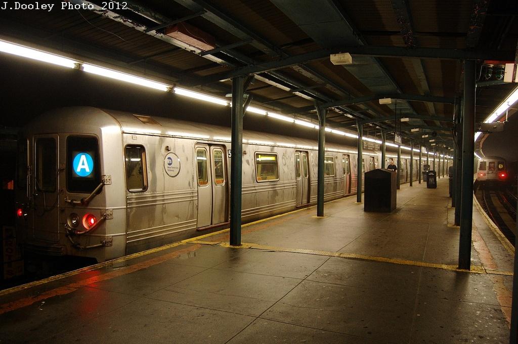 (327k, 1024x680)<br><b>Country:</b> United States<br><b>City:</b> New York<br><b>System:</b> New York City Transit<br><b>Line:</b> IND Fulton Street Line<br><b>Location:</b> Lefferts Boulevard <br><b>Route:</b> A<br><b>Car:</b> R-46 (Pullman-Standard, 1974-75) 5842 <br><b>Photo by:</b> John Dooley<br><b>Date:</b> 5/25/2012<br><b>Viewed (this week/total):</b> 0 / 618