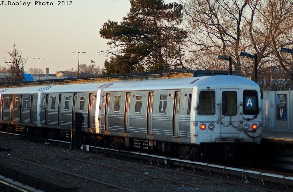 (361k, 1024x672)<br><b>Country:</b> United States<br><b>City:</b> New York<br><b>System:</b> New York City Transit<br><b>Line:</b> IND Rockaway<br><b>Location:</b> Aqueduct/North Conduit Avenue <br><b>Route:</b> A<br><b>Car:</b> R-46 (Pullman-Standard, 1974-75) 5944 <br><b>Photo by:</b> John Dooley<br><b>Date:</b> 3/14/2012<br><b>Viewed (this week/total):</b> 2 / 646
