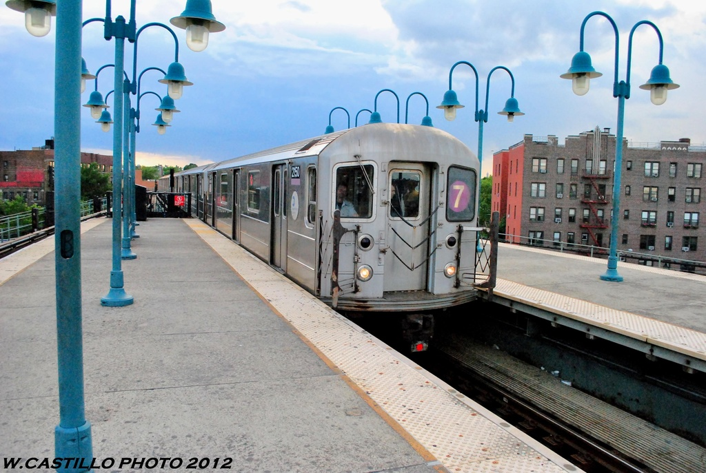 (281k, 1024x687)<br><b>Country:</b> United States<br><b>City:</b> New York<br><b>System:</b> New York City Transit<br><b>Line:</b> IRT Flushing Line<br><b>Location:</b> 61st Street/Woodside <br><b>Route:</b> 7<br><b>Car:</b> R-62A (Bombardier, 1984-1987)  2150 <br><b>Photo by:</b> Wilfredo Castillo<br><b>Date:</b> 6/2012<br><b>Viewed (this week/total):</b> 1 / 764