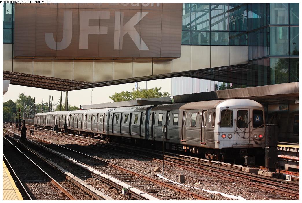 (372k, 1044x703)<br><b>Country:</b> United States<br><b>City:</b> New York<br><b>System:</b> New York City Transit<br><b>Line:</b> IND Rockaway<br><b>Location:</b> Howard Beach <br><b>Route:</b> A<br><b>Car:</b> R-46 (Pullman-Standard, 1974-75) 5906 <br><b>Photo by:</b> Neil Feldman<br><b>Date:</b> 6/8/2012<br><b>Viewed (this week/total):</b> 8 / 889