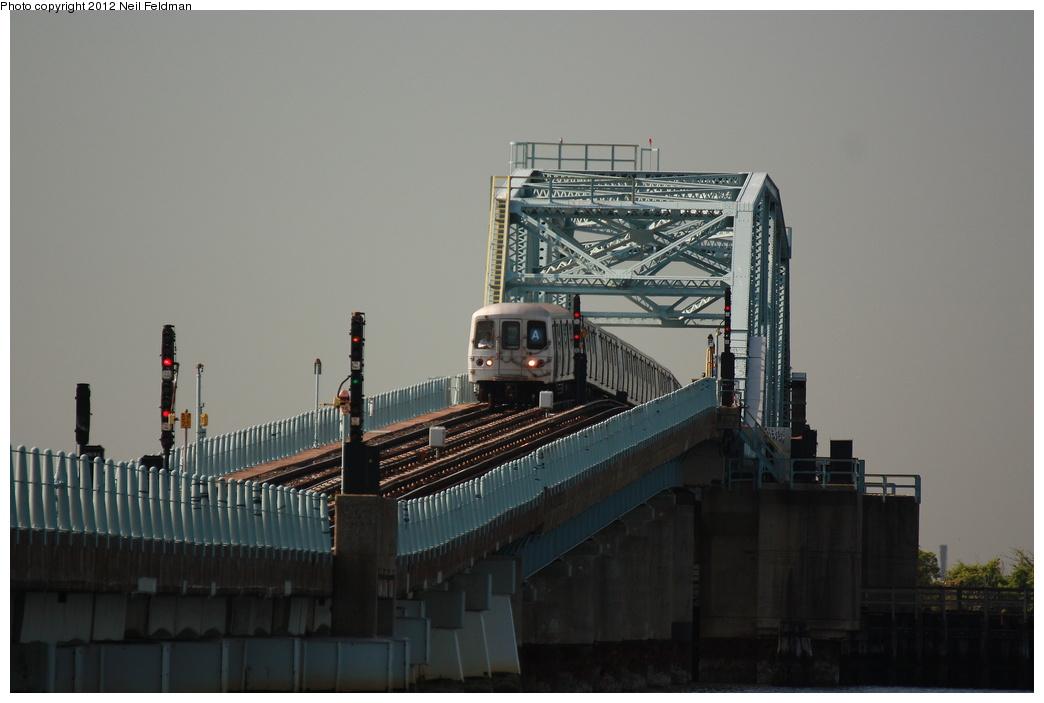 (205k, 1044x703)<br><b>Country:</b> United States<br><b>City:</b> New York<br><b>System:</b> New York City Transit<br><b>Line:</b> IND Rockaway<br><b>Location:</b> Broad Channel <br><b>Route:</b> A<br><b>Car:</b> R-46 (Pullman-Standard, 1974-75) 6104 <br><b>Photo by:</b> Neil Feldman<br><b>Date:</b> 6/8/2012<br><b>Viewed (this week/total):</b> 2 / 968