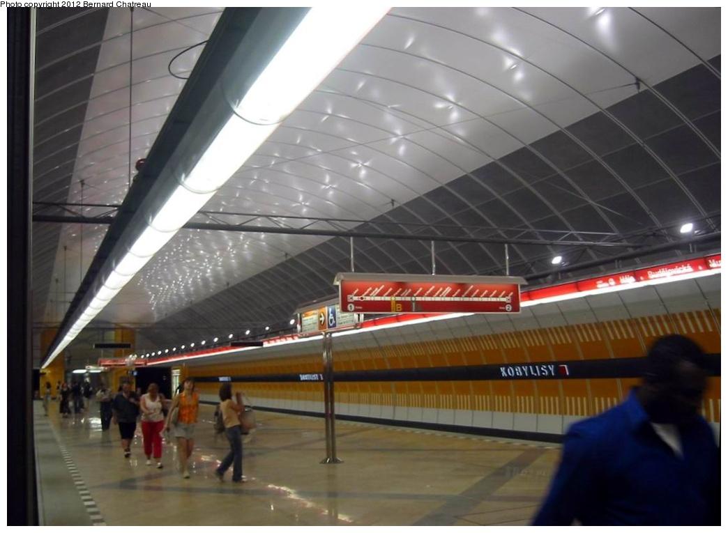 (201k, 1044x765)<br><b>Country:</b> Czech Republic<br><b>City:</b> Prague<br><b>System:</b> Dopravni podnik Prahy <br><b>Line:</b> Prague Metro-C<br><b>Location:</b> Kobylisy <br><b>Photo by:</b> Bernard Chatreau<br><b>Date:</b> 7/17/2004<br><b>Viewed (this week/total):</b> 1 / 279