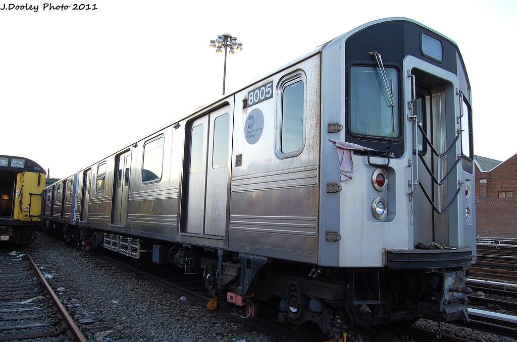 (283k, 1024x678)<br><b>Country:</b> United States<br><b>City:</b> New York<br><b>System:</b> New York City Transit<br><b>Location:</b> 239th Street Yard<br><b>Car:</b> R-110A (Kawasaki, 1992) 8005 <br><b>Photo by:</b> John Dooley<br><b>Date:</b> 12/8/2011<br><b>Viewed (this week/total):</b> 1 / 1224