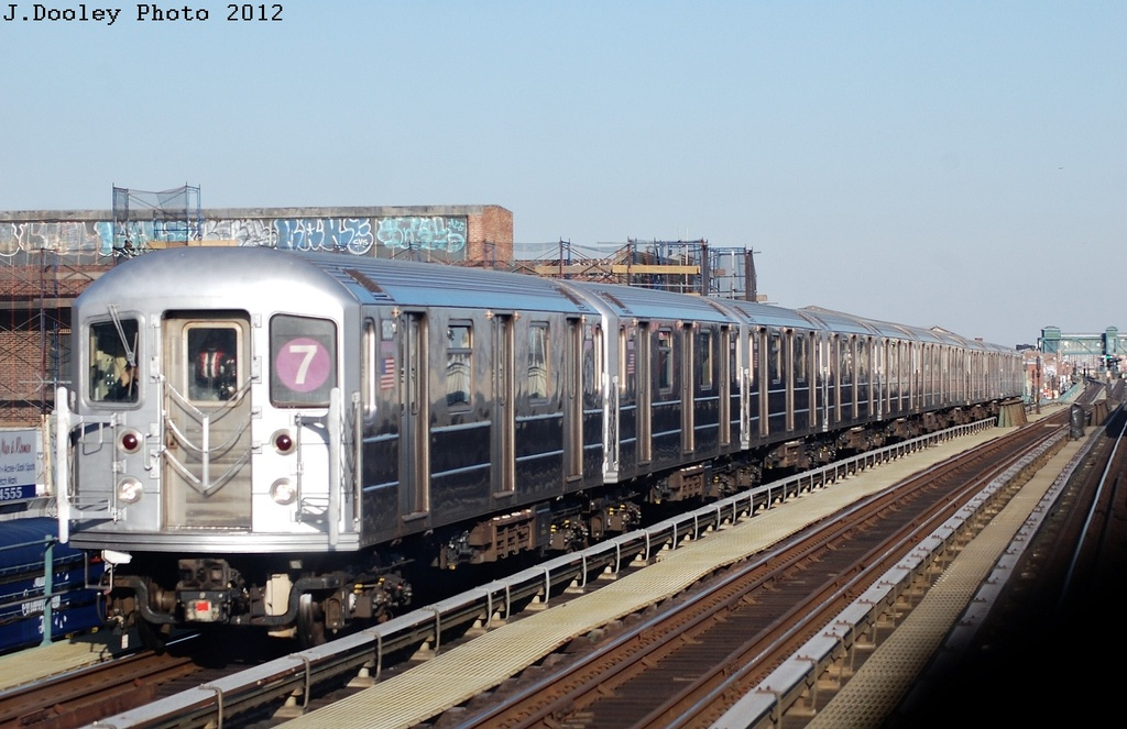 (291k, 1024x663)<br><b>Country:</b> United States<br><b>City:</b> New York<br><b>System:</b> New York City Transit<br><b>Line:</b> IRT Flushing Line<br><b>Location:</b> Junction Boulevard <br><b>Route:</b> 7<br><b>Car:</b> R-62A (Bombardier, 1984-1987)  1806 <br><b>Photo by:</b> John Dooley<br><b>Date:</b> 3/6/2012<br><b>Viewed (this week/total):</b> 1 / 1066