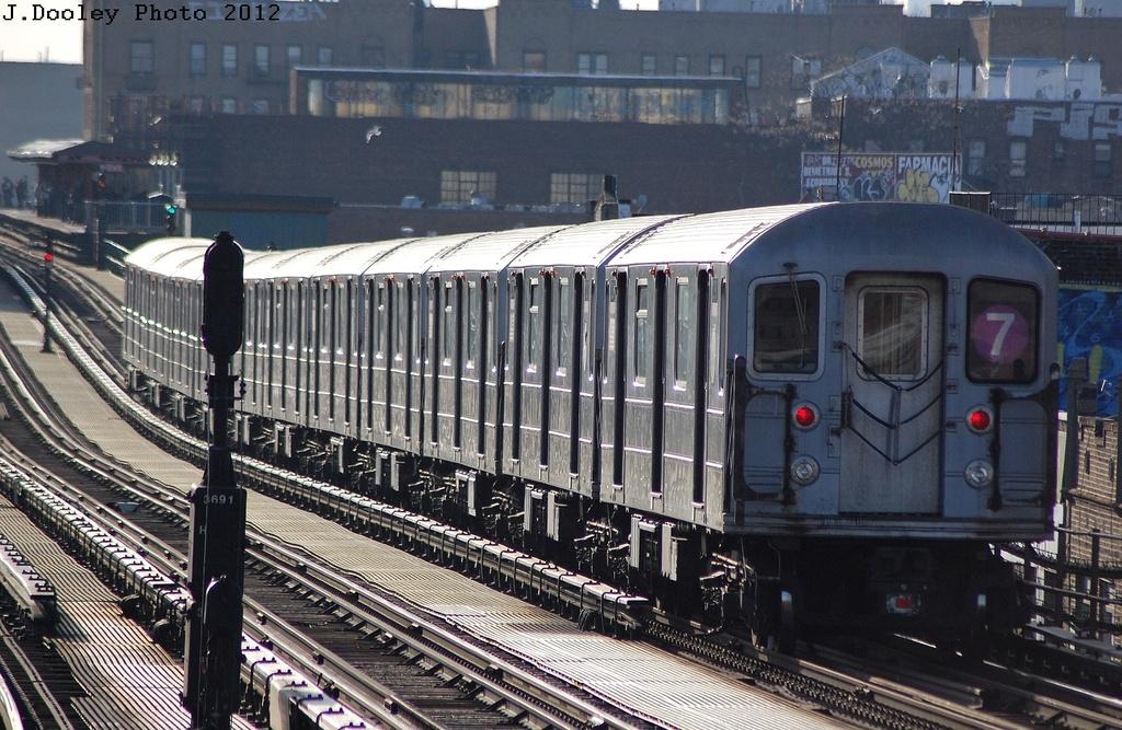 (377k, 1024x667)<br><b>Country:</b> United States<br><b>City:</b> New York<br><b>System:</b> New York City Transit<br><b>Line:</b> IRT Flushing Line<br><b>Location:</b> Junction Boulevard <br><b>Route:</b> 7<br><b>Car:</b> R-62A (Bombardier, 1984-1987)  2080 <br><b>Photo by:</b> John Dooley<br><b>Date:</b> 3/6/2012<br><b>Viewed (this week/total):</b> 1 / 1043