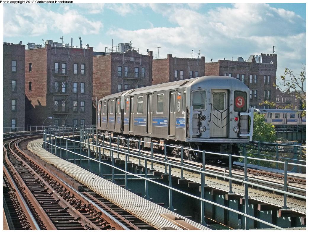 (493k, 1044x788)<br><b>Country:</b> United States<br><b>City:</b> New York<br><b>System:</b> New York City Transit<br><b>Line:</b> IRT Brooklyn Line<br><b>Location:</b> Saratoga Avenue <br><b>Route:</b> 3<br><b>Car:</b> R-62 (Kawasaki, 1983-1985)  1555 <br><b>Photo by:</b> Christopher Henderson<br><b>Date:</b> 10/7/2010<br><b>Viewed (this week/total):</b> 0 / 1773