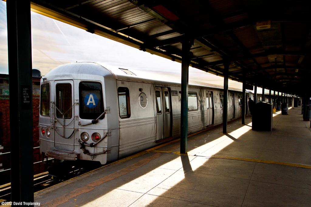 (356k, 1024x682)<br><b>Country:</b> United States<br><b>City:</b> New York<br><b>System:</b> New York City Transit<br><b>Line:</b> IND Fulton Street Line<br><b>Location:</b> Lefferts Boulevard <br><b>Route:</b> A<br><b>Car:</b> R-46 (Pullman-Standard, 1974-75) 6182 <br><b>Photo by:</b> David Tropiansky<br><b>Date:</b> 3/10/2012<br><b>Viewed (this week/total):</b> 0 / 750