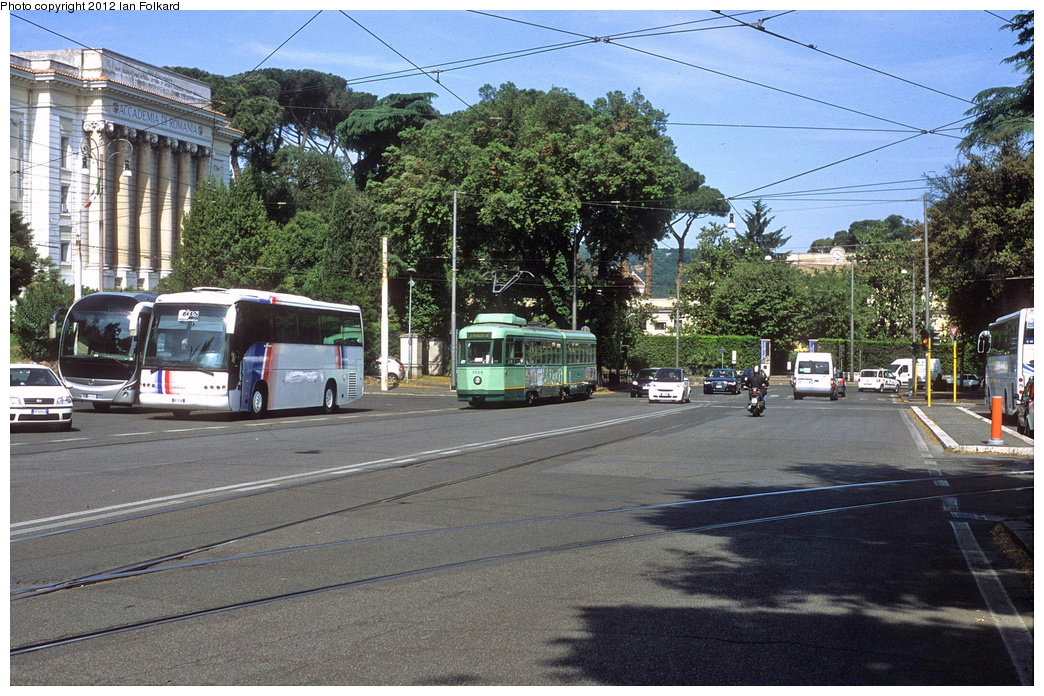 (458k, 1044x696)<br><b>Country:</b> Italy<br><b>City:</b> Rome<br><b>System:</b> ATAC <br><b>Location:</b> Piazzale Belle Arti<br><b>Route:</b> 14<br><b>Car:</b> Rome 6-Axle (Stanga, 1949-50)  7009 <br><b>Photo by:</b> Ian Folkard<br><b>Date:</b> 5/15/2012<br><b>Viewed (this week/total):</b> 1 / 385
