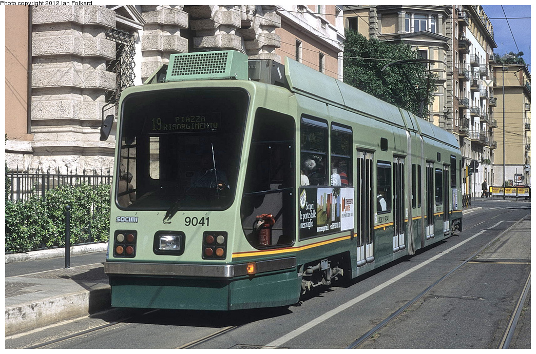 (442k, 1044x690)<br><b>Country:</b> Italy<br><b>City:</b> Rome<br><b>System:</b> ATAC <br><b>Location:</b> Via Flaminia & Via della Marina <br><b>Route:</b> 14<br><b>Car:</b> Rome Double-End (Socimi, 1990)  9041 <br><b>Photo by:</b> Ian Folkard<br><b>Date:</b> 5/15/2012<br><b>Viewed (this week/total):</b> 1 / 449
