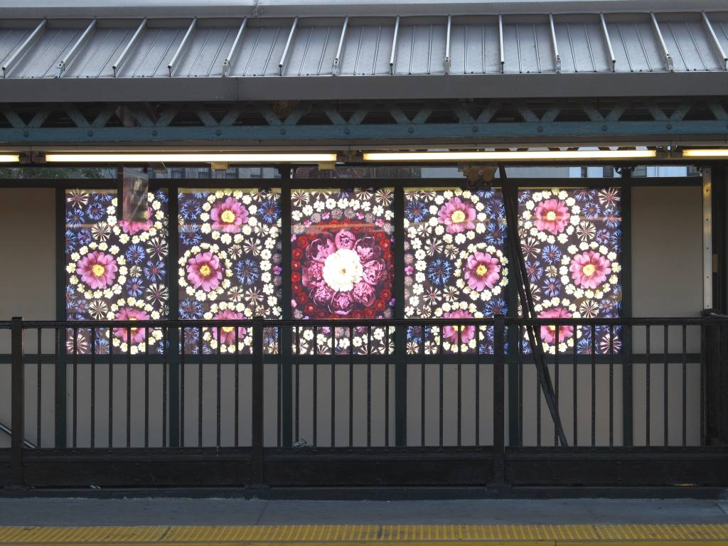 (134k, 1024x768)<br><b>Country:</b> United States<br><b>City:</b> New York<br><b>System:</b> New York City Transit<br><b>Line:</b> BMT West End Line<br><b>Location:</b> Fort Hamilton Parkway <br><b>Photo by:</b> Robbie Rosenfeld<br><b>Date:</b> 7/9/2012<br><b>Artwork:</b> <i>Gardens of Fort Hamilton Parkway Station</i>, Portia Munson (2012).<br><b>Viewed (this week/total):</b> 7 / 1797