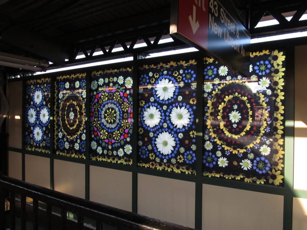 (124k, 1024x768)<br><b>Country:</b> United States<br><b>City:</b> New York<br><b>System:</b> New York City Transit<br><b>Line:</b> BMT West End Line<br><b>Location:</b> Fort Hamilton Parkway <br><b>Photo by:</b> Robbie Rosenfeld<br><b>Date:</b> 7/9/2012<br><b>Artwork:</b> <i>Gardens of Fort Hamilton Parkway Station</i>, Portia Munson (2012).<br><b>Viewed (this week/total):</b> 2 / 1414