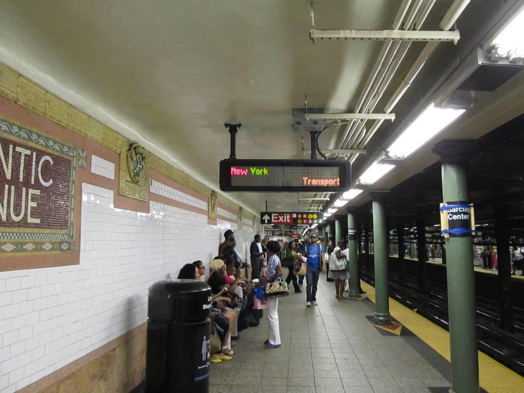 (108k, 1024x768)<br><b>Country:</b> United States<br><b>City:</b> New York<br><b>System:</b> New York City Transit<br><b>Line:</b> IRT Brooklyn Line<br><b>Location:</b> Atlantic Avenue <br><b>Photo by:</b> Robbie Rosenfeld<br><b>Date:</b> 6/27/2012<br><b>Notes:</b> Platform view. New York Transport?<br><b>Viewed (this week/total):</b> 0 / 1220