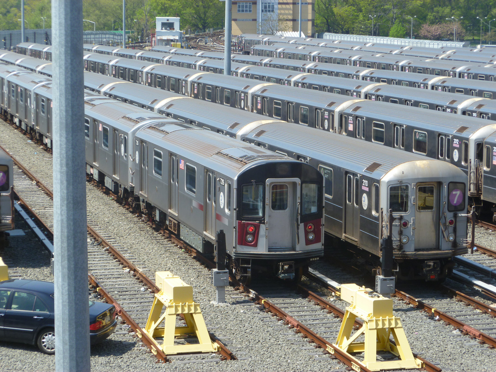 (578k, 1024x768)<br><b>Country:</b> United States<br><b>City:</b> New York<br><b>System:</b> New York City Transit<br><b>Location:</b> Corona Yard<br><b>Car:</b> R-188 (R-142A Conversion, Kawasaki, 1999-2002) 7216 <br><b>Photo by:</b> Kevin Wong<br><b>Date:</b> 4/19/2012<br><b>Viewed (this week/total):</b> 2 / 1914